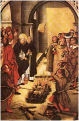 Burning of heretics Books by Papal Mandate